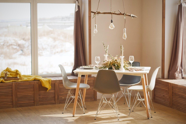 Скандинавский обеденный стол, Скандинавский обеденный стол, Скандинавский белый стол