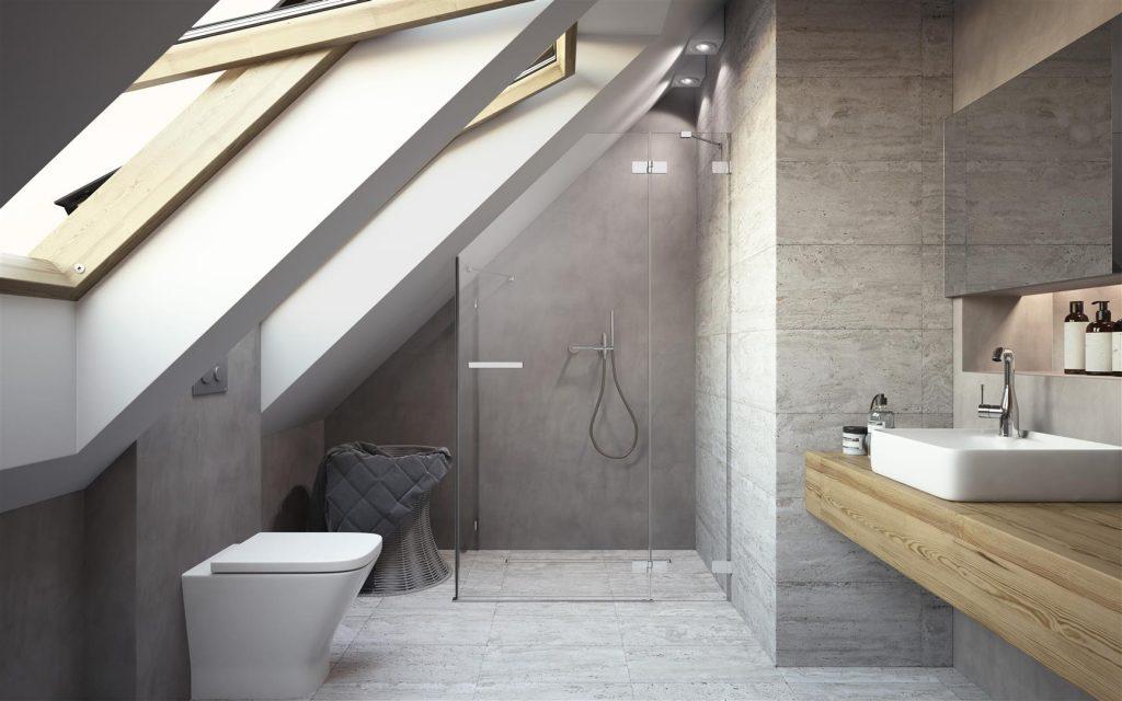 5 Pomysłów Nowoczesna łazienka Z Wanną Z Prysznicem Na Poddaszu