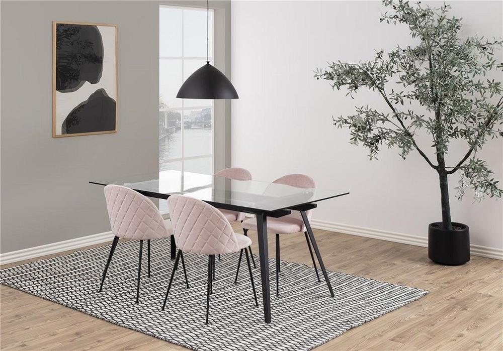 стулья для столовой гламур, стеганые стулья для столовой, стиль гламур в столовой