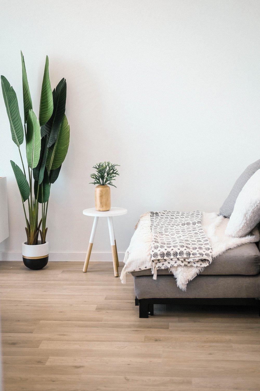 Пол в скандинавском стиле, пол в спальне, деревянный пол в спальне